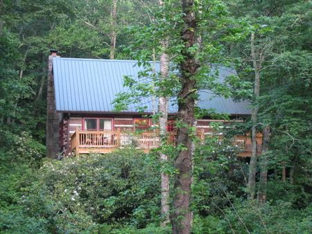 Cabin back porch